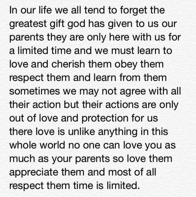 Love Your Parents Quotes. QuotesGram by @quotesgram