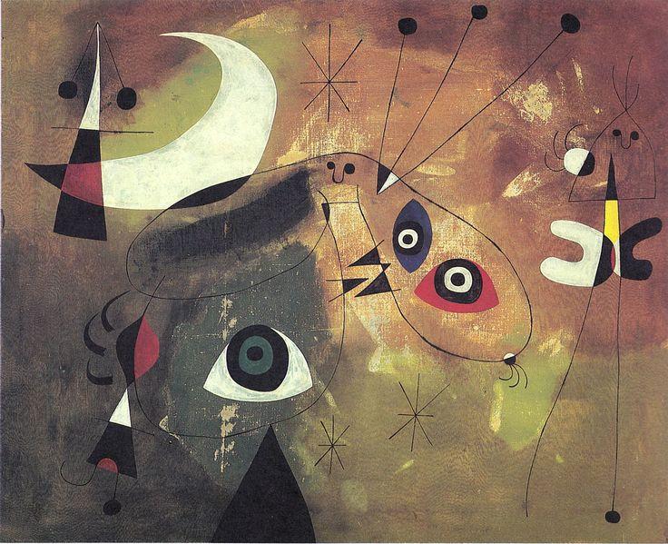 Juan Mirò - Dipinto (1954).