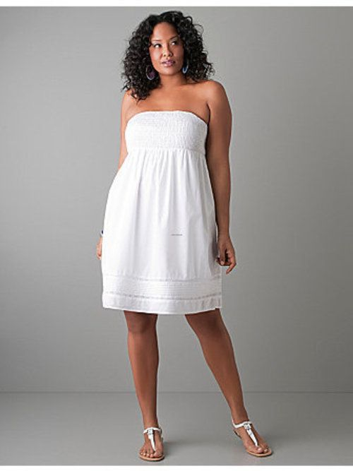 Short White Dress For Plus Size