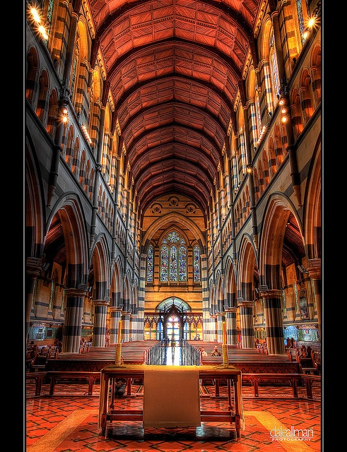 St Paul's Cathedral in Melbourne - Gothic Revivalism in the colonies - English architect William Butterfield (1814-1900)