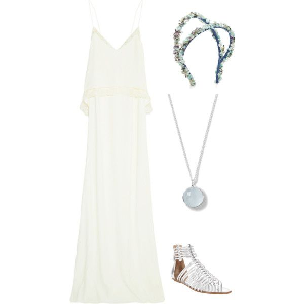 A fashion look from February 2015 featuring Rime Arodaky, Aquazzura sandals and Ippolita necklaces. Browse and shop related looks.