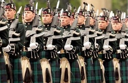 Scottish regimental military
