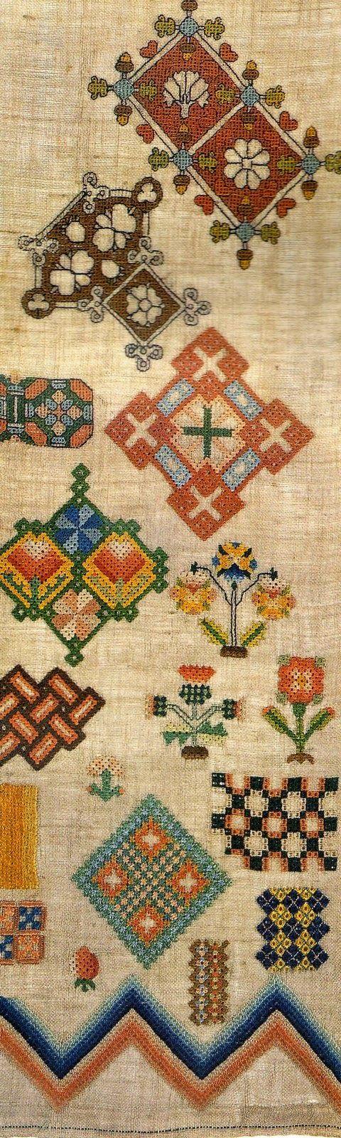 Элиза Ричардсон, Англия, 1837 г     Марта Эдлин, Англия, 1668 г    Семплер (англ. « sampler »)  – вид вышивки, которая представляет соб...