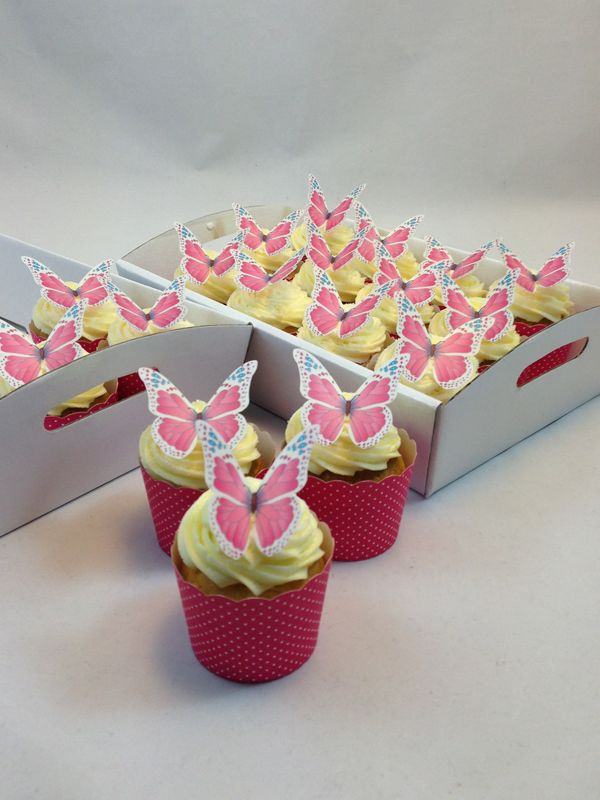 Pink Butterfly Cupcake Kit. Click here http://www.icingonthecakekits.com/item_112/Pink-Butterfly-Cupcake-Kit.htm $39.95