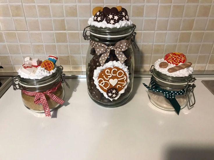 Set zucchero, sale, biscotti in fimo