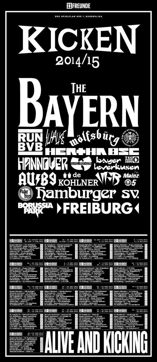 Transformaram a tabela da Bundesliga em cartaz de festival de rock e ficou demais - Trivela
