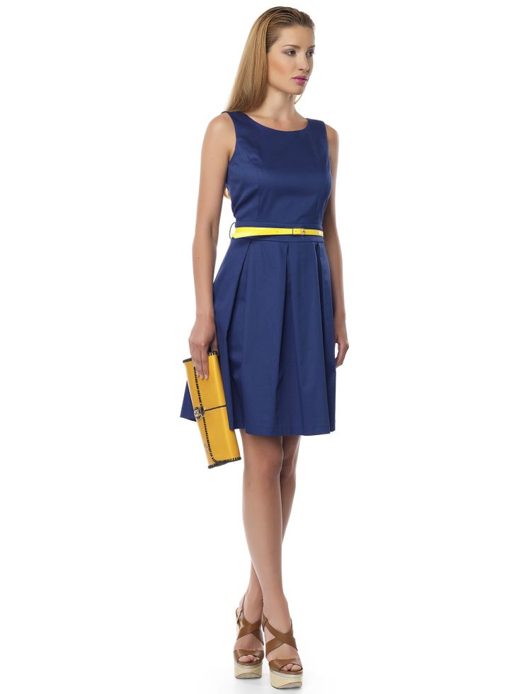 #navy#yellow#dress