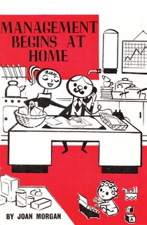 Vintage book cover illustration. Management begins at home.