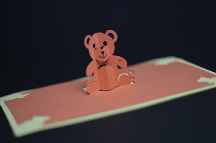 teddybear popup card: Pop Up Cards, Teddy Bears, Popup Card, Teddybear Popup