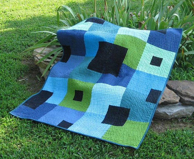 solid quilt By brige66: Parks Cribs, Houses Quilts, Quilts Patterns, Quilts Inspiration, Cities Parks, Awesome Modern, Cribs Size, Vibrant Colors, Modern Quilts