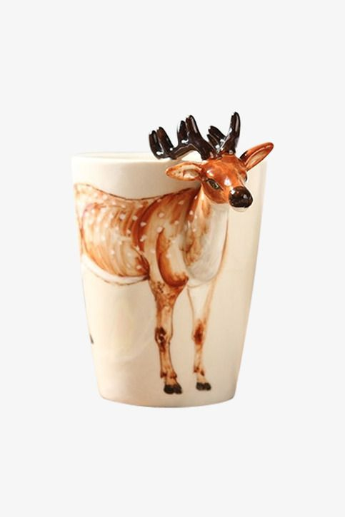FLASH SALE 6.5 6.8 This item is shipped within 48 hours from your purchase.  We offer FREE and expedited EMS shipping for USA and first class HONG KONG POST for any other country in the world. Excellent Moooh!! Customer service is included in the price too!!  Lovely, hand made chunky coffee mugs, featuring deer...