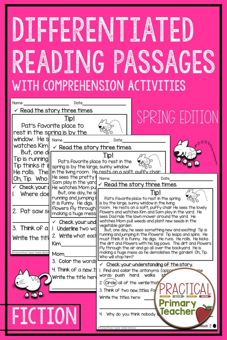 Reading Passages With Comprehension Questions Three Levels Spring Reading Passages Differentiated Reading Passages Differentiated Reading Level m reading passages with questions