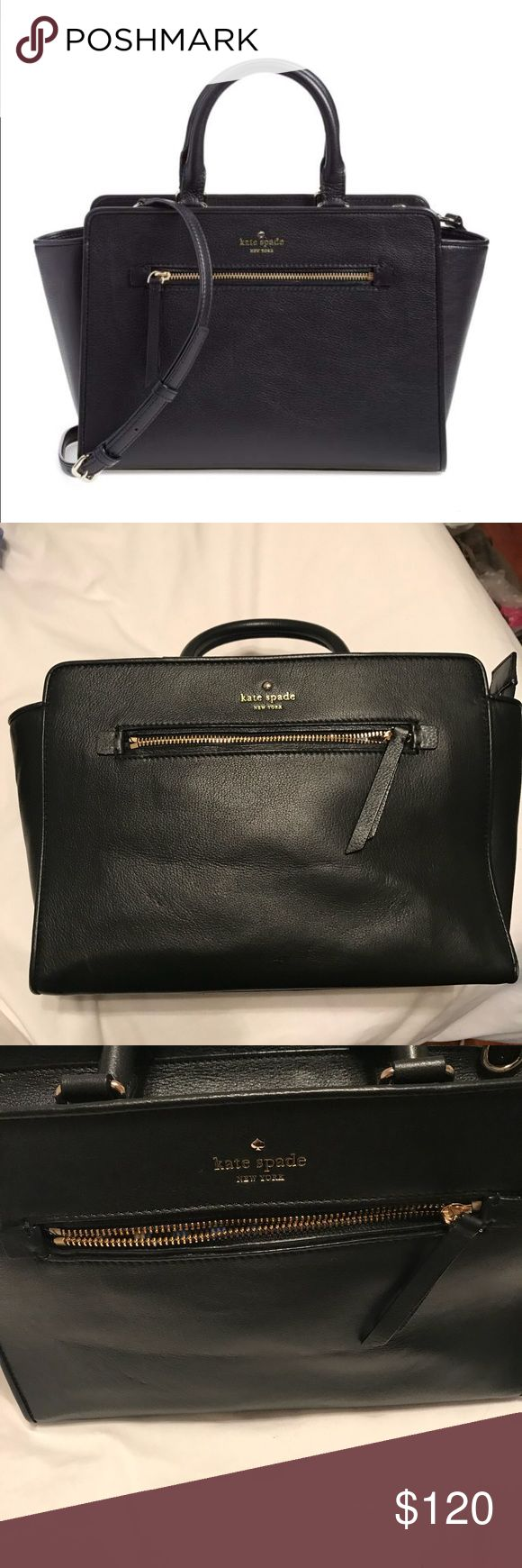 Kate spade handbag 12'W x 9″H x 5″W flaws shown. Just want gone offers accepted! North court coralline bag from Nordstrom anniversary sale 2015. Comes with crossbody strap and dust bag kate spade Bags Crossbody Bags