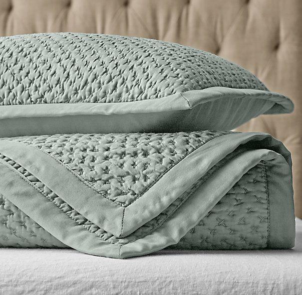Luxury Bedding Washed Silk Quilt Restoration Hardware