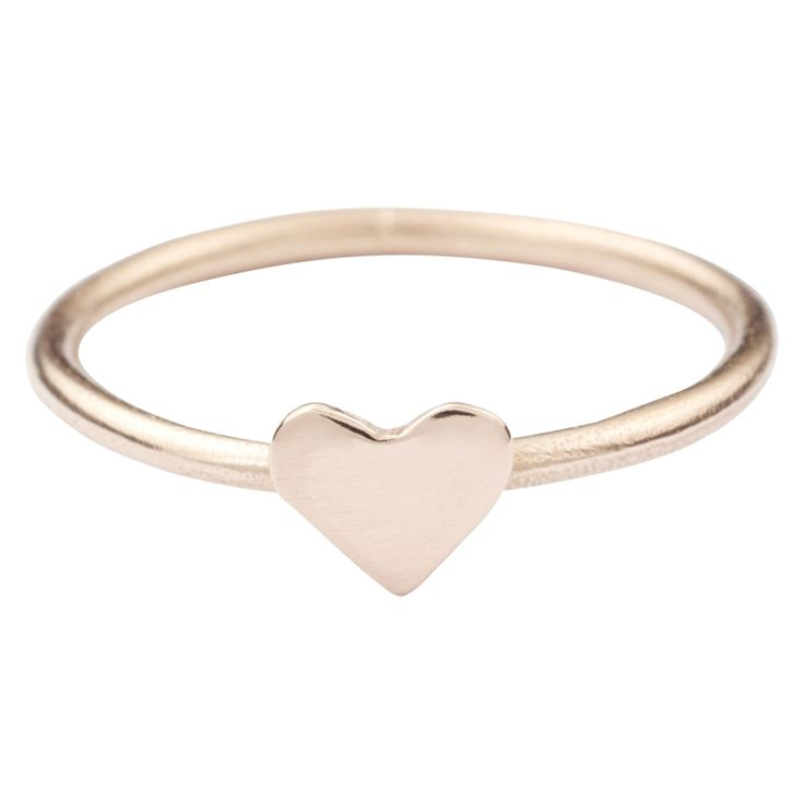 Christmas in #htfstyle Solid gold heart stackable