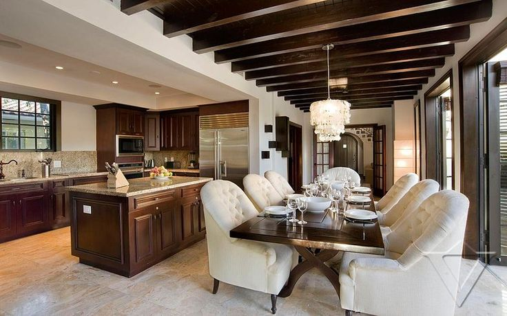 Miami Villas Homes Luxury Rent Holiday Florida Chic Dining Room