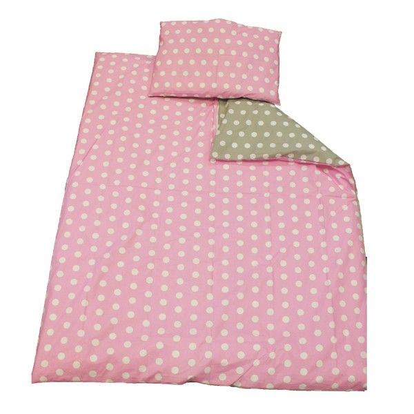 This cute cot duvet cover set is perfect for ensuring a great night's sleep. Made from 100% cotton, this children's duvet cover set is both durable and comfortable, and is the perfect solution to a peaceful night's sleep.
