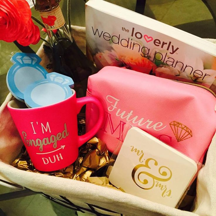 Gift for your bestie who just got engaged. help her get ready for wedding planning with this adorable gift box! Gift for the bride to be.