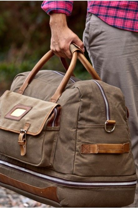 Elkton Canvas Luggage Waxed Canvas And Leather Travel