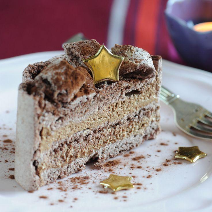 Découvrez la recette du gâteau meringué au chocolat