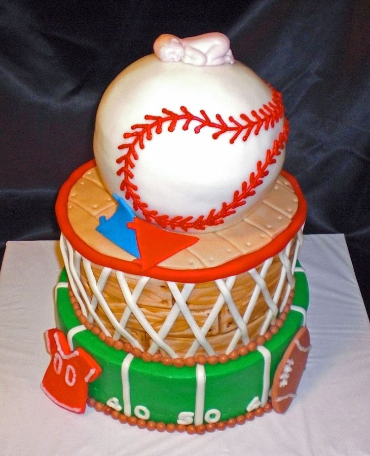 sports cakes sports baby cake this cake was made to match the sports theme party