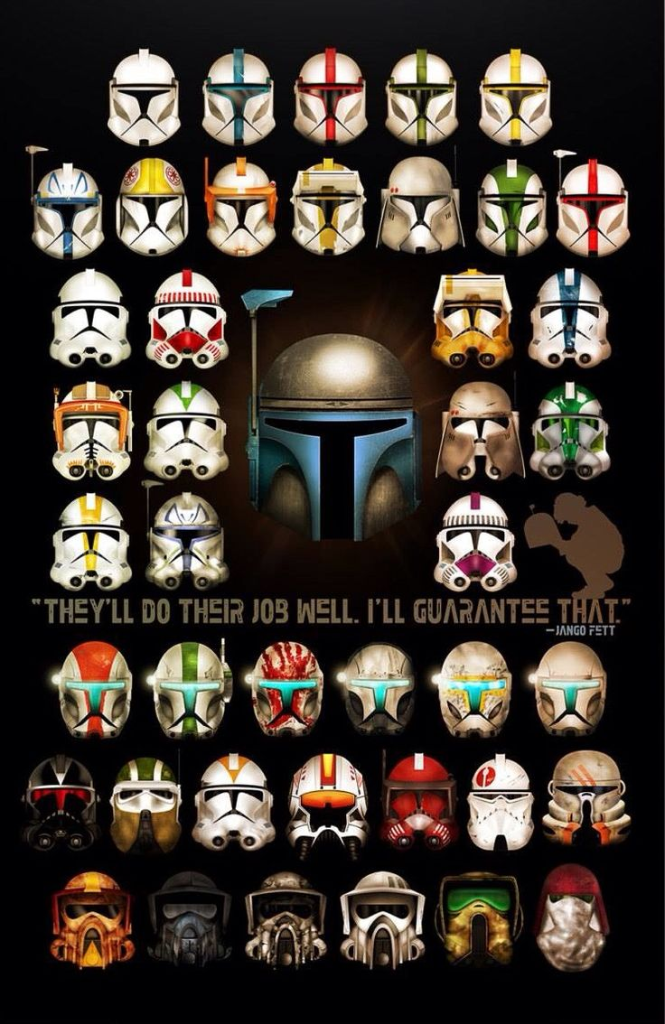 "Clones: ""They'll do their job well. I guarantee that."" - Jango Fett."