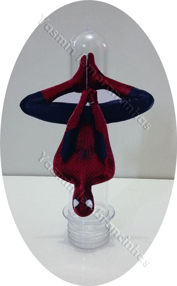 Tubete do Homem Aranha Tamanho: Tubete de 13cm X 4cm    Decorado fica 13(altura) X 7 (largura).  Tampa azul escuro,vermelha ou Preto