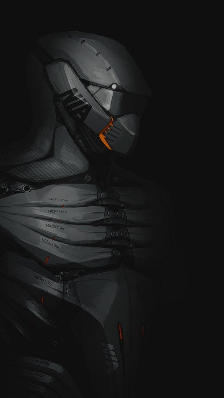 Polymer Suit Soldier Dark Minimal Art 720x1280 Wallpaper