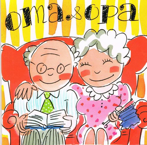 Blond Amsterdam Kaart 116 - Oma en Opa~ What Grandpa and Grandma is in German!