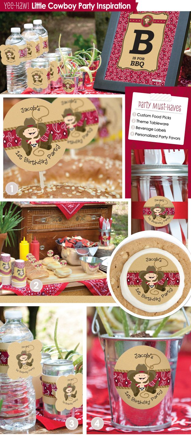 Western Party Ideas: Little Cowboy Theme from BigDotOf Happiness.com