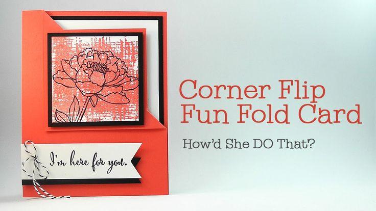 Easy Corner Flip Fun Fold Card by Dawn O