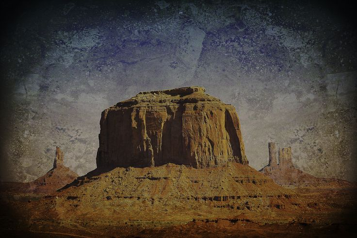 monument valley photo with digital painting - a digital painting from my photo of monument valley.
