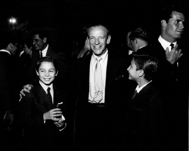 Craig Stevens, Johnny Crawford, Fred Astaire, Bobby Crawford, James Garner at the 1959 Emmy nominees reception.