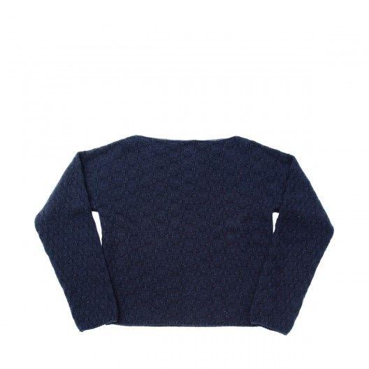 Loewe - Boat Neck Jumper - Textured cashmere boat neck jumper, navy blue