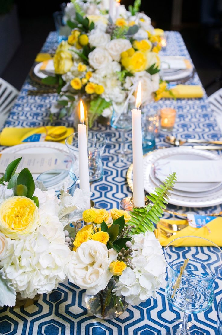 Pan Am Inspired Wedding Table