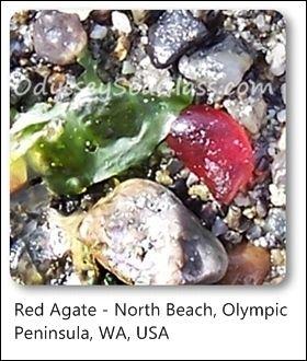 agate red north beach washington state usa