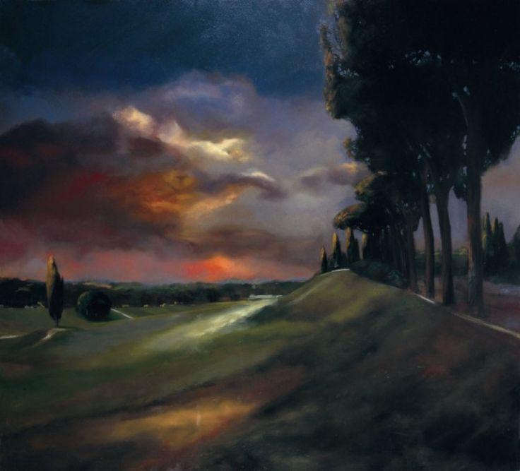 "Francesco Parisi, ""Circo Massimo"", oil on canvas, 2008, cm 100x110"