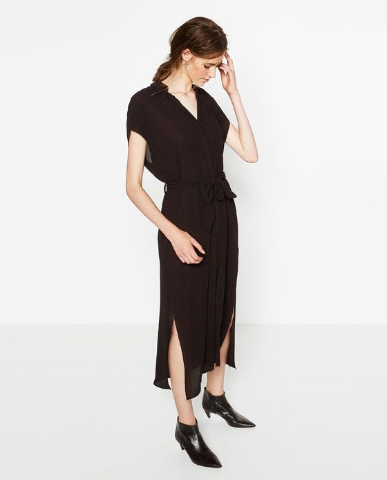 Image 1 of LONG TUNIC WITH SLITS from Zara