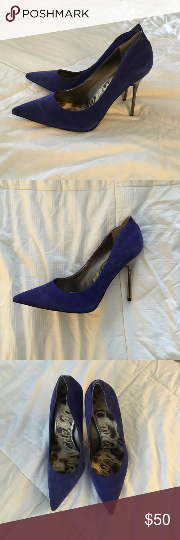Sam Edelman Heels Danielle Heeled Blue Point Court Cobalt Blue Pumps Sam Edelman Shoes Heels