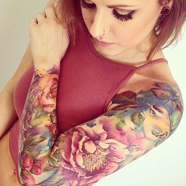 Alcohol Inks On Yupo Art Sleeve Tattoos Tattoos Full Sleeve