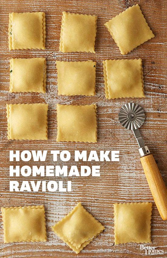 How to Make Homemade Ravioli - Whether you make fresh pasta dough by hand, or the easy way, with a food processor, homemade ravioli is a treat like none other. Best of all, the filling possibilities are endless. Get started by mixing up our Fresh Pasta Dough recipe, and then follow the next slides for our never-fail method for cutting, filling, and crimping ravioli.