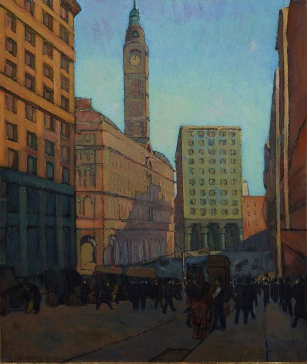 Centre of a city, (circa 1925) by Grace Cossington Smith :: The Collection :: Art Gallery NSW