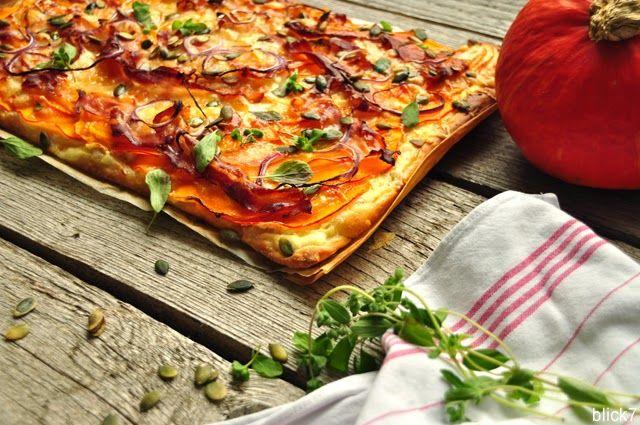 Kürbispizza mit Birne