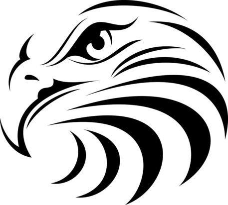Eagle's head outlined outdoor vinyl decal handmade bird decal