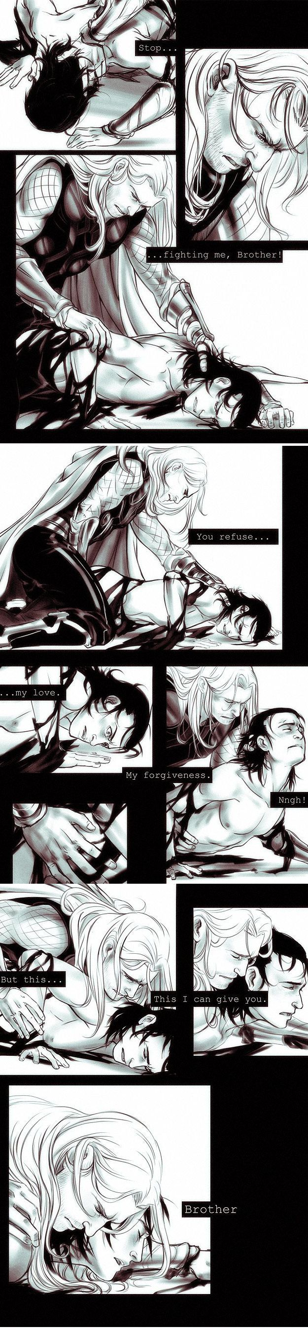 I am totally for top!Loki but this is too beauty.<--- Really? I always thought that Thor would be top