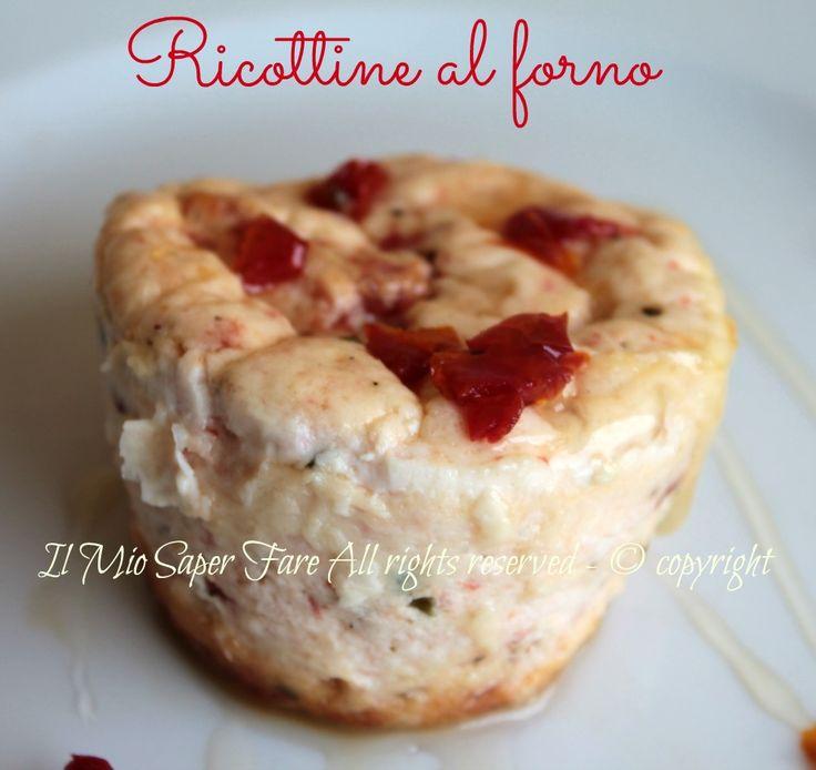 Ricottine al forno con pomodori secchi #Antipasto