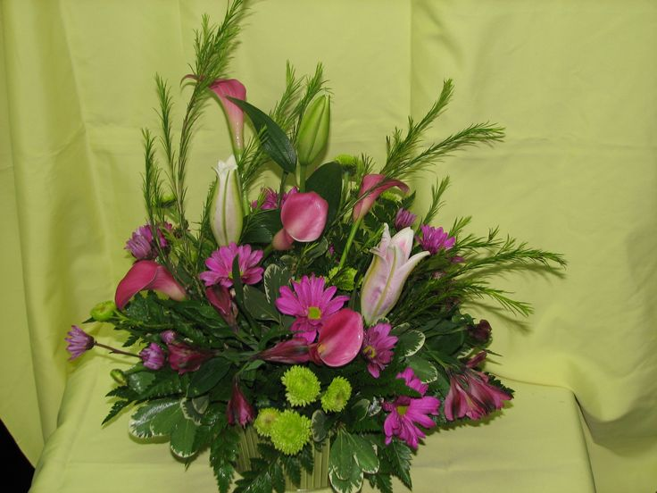 Pinks, Purples and Greens