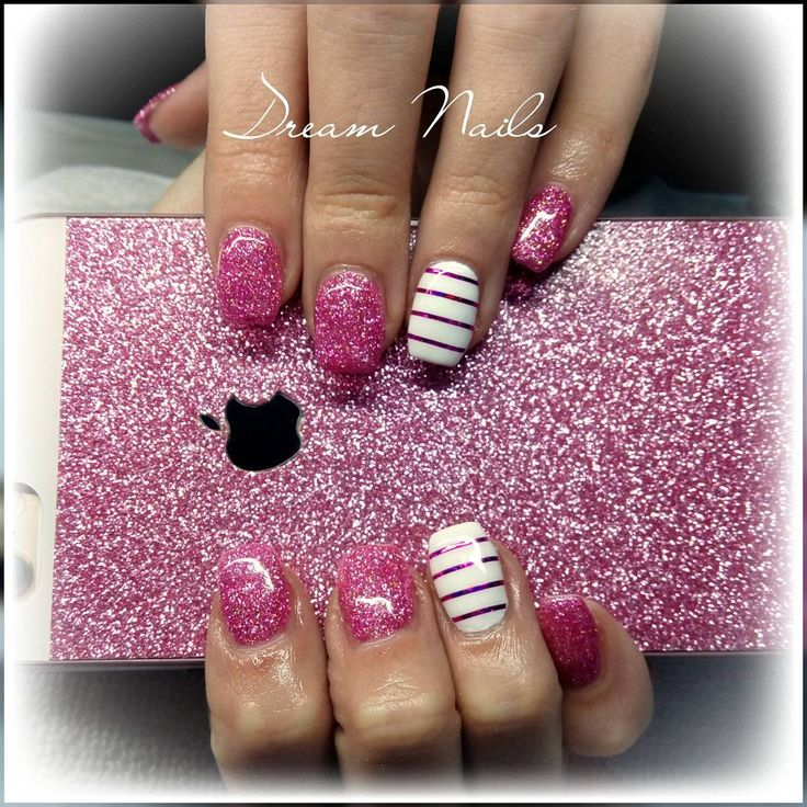 Pinknails#dreamnails#brillnails#nailfashion#crystalnails#followme#nailart#ribbon#gelnails#gelnailart