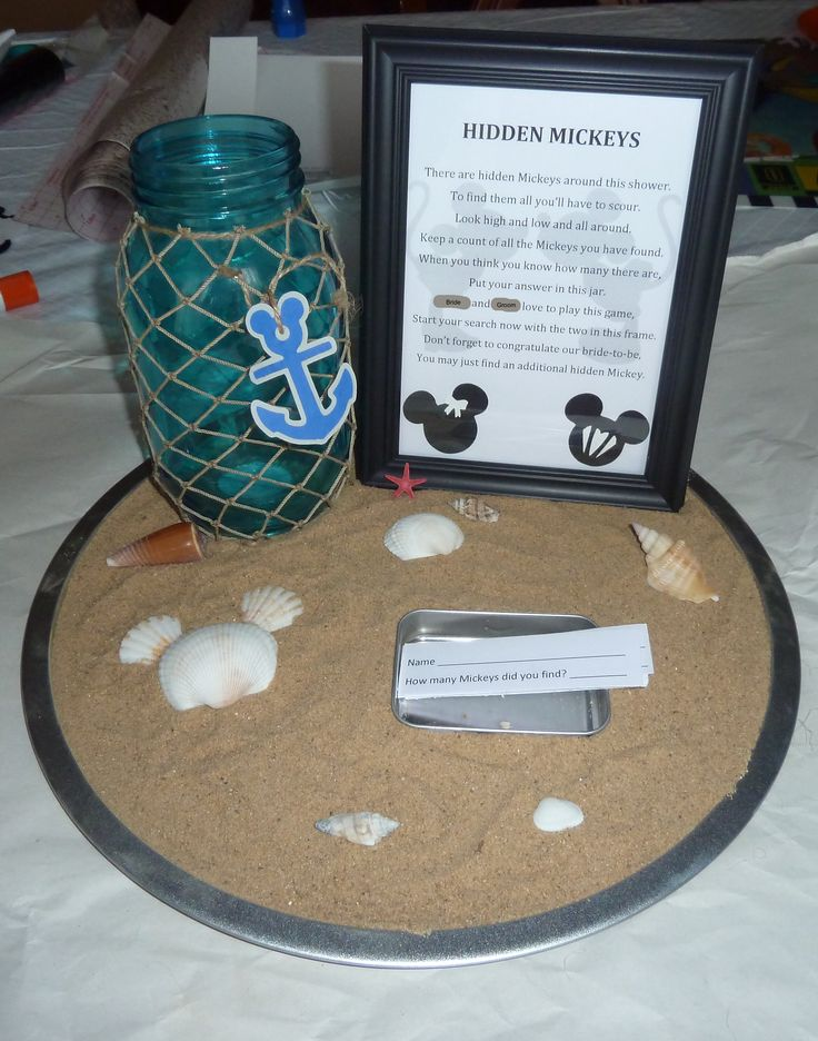 couples bridal shower games free%0A Hidden Mickey Bridal Shower Game  The shower had an ocean beach theme  Base