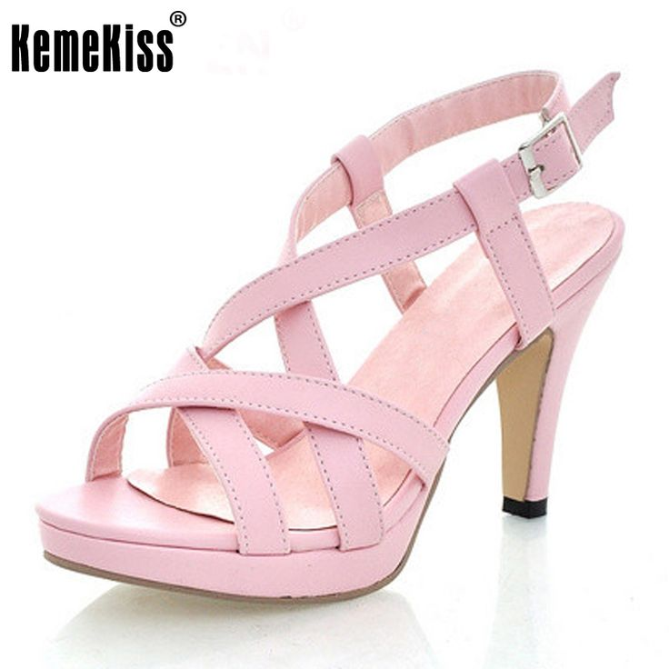 TAOFFEN Damen High Heels Sandalen Party Schuhe  43 EURed